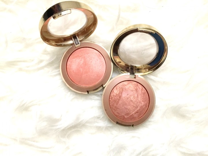 close up of blushes