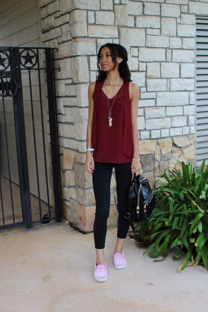 Two Ways to Wear Pink Shoes in the Fall